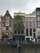 Anne Frank's house behind the tree